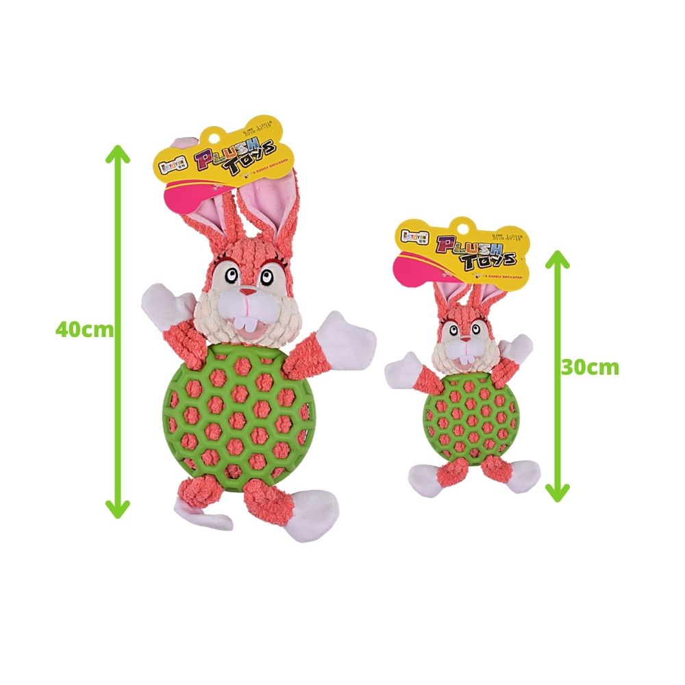 EE Toys Rubber N Plush Rabbit Dog Toy-Dog Toys-Euro Pet-Small-Poochles India