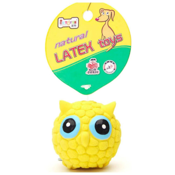 EE Latex Owl Shaped Chew Toy For Puppies - Poochles