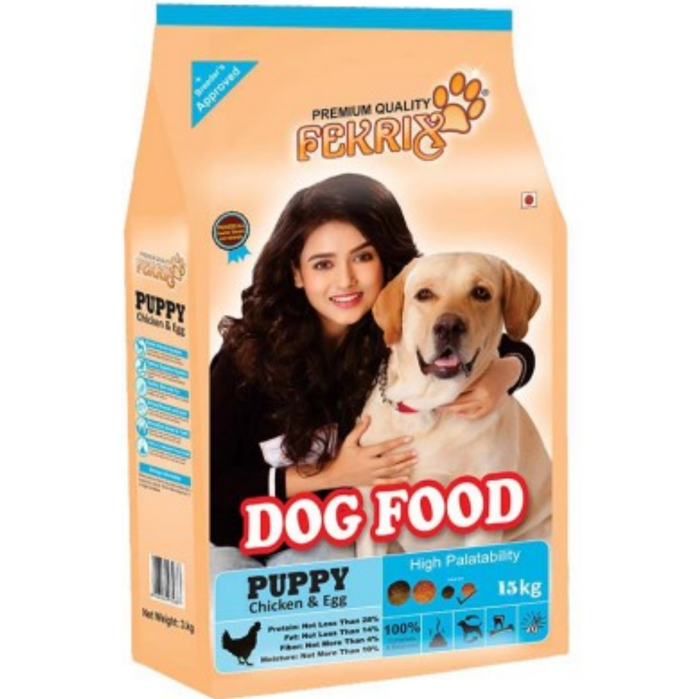 Fekrix Chicken And Egg Puppy Dog Food - Poochles