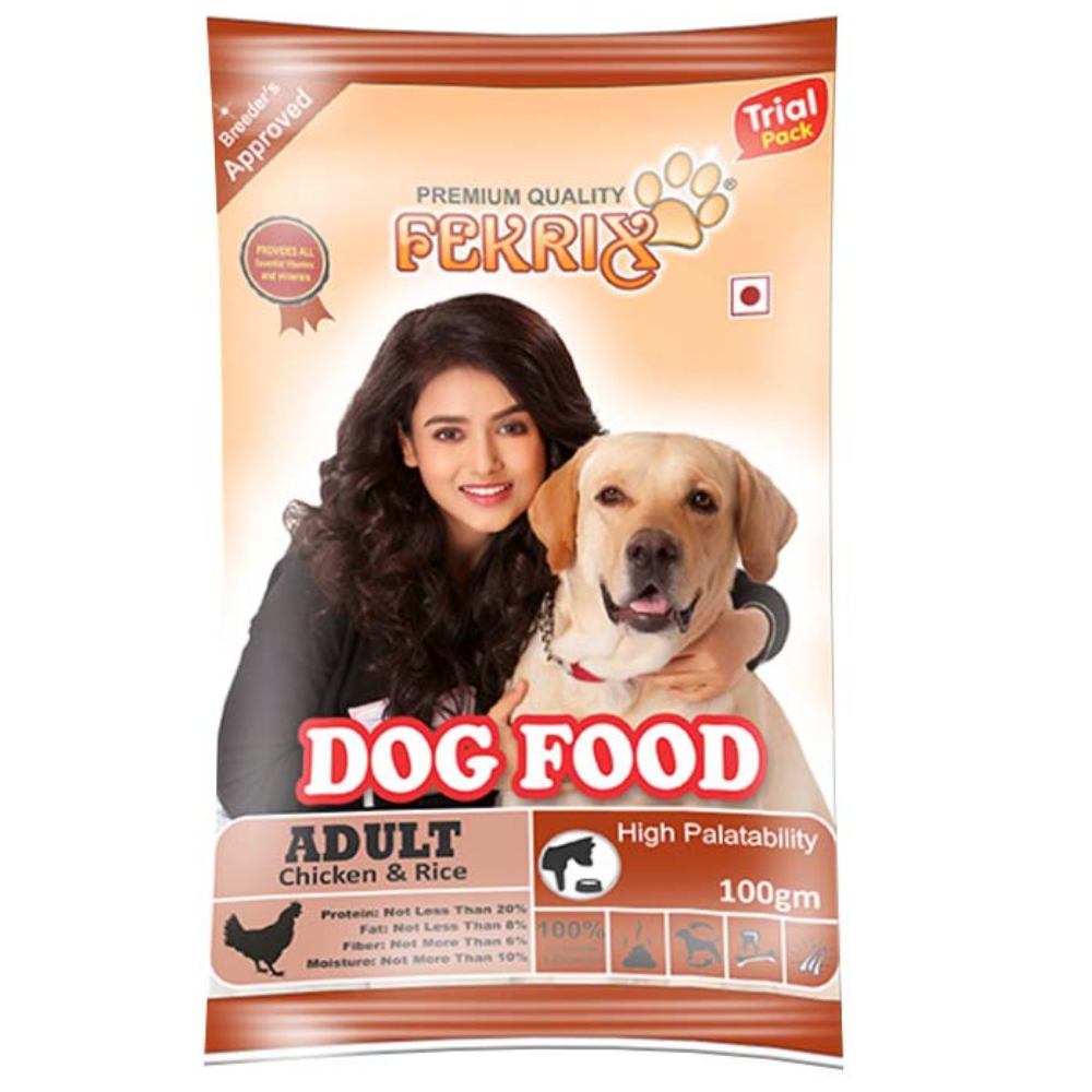 Fekrix Chicken And Rice Adult Dog Food - Poochles