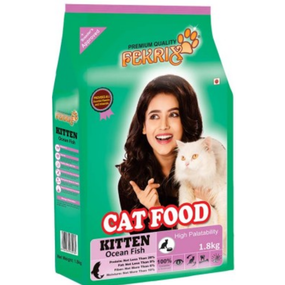 Fekrix Ocean Fish Kitten Food - Poochles