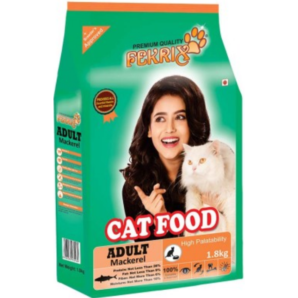 Fekrix Mackerel Adult Cat Food - Poochles