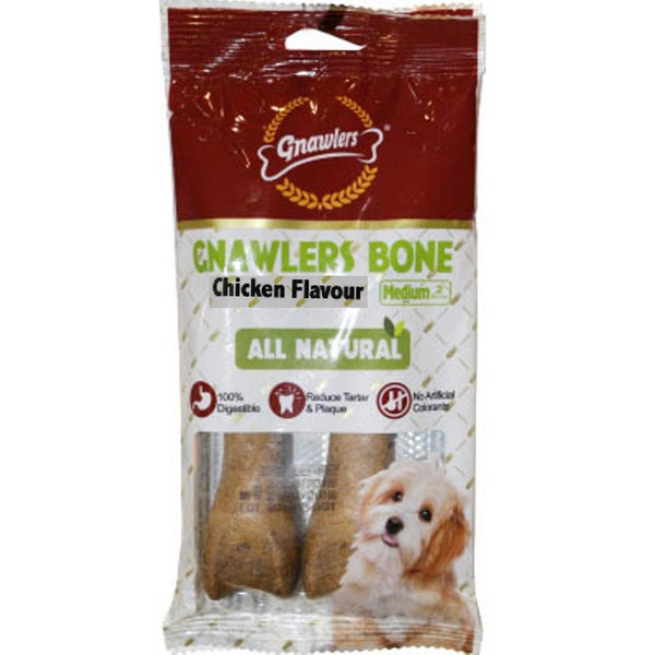 Gnawlers Chicken Bone For Puppies 4.5 Inch x 3 Nos - Poochles