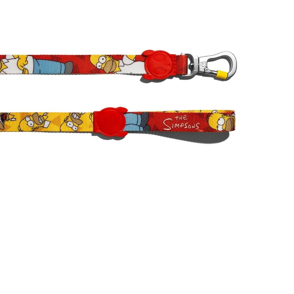 ZeeDog Dog Leash New Color Homer Simpson is part of the Simpsons collaboration Size (Small, Large)-Dog Accessories-ZeeDog-Small-Poochles India