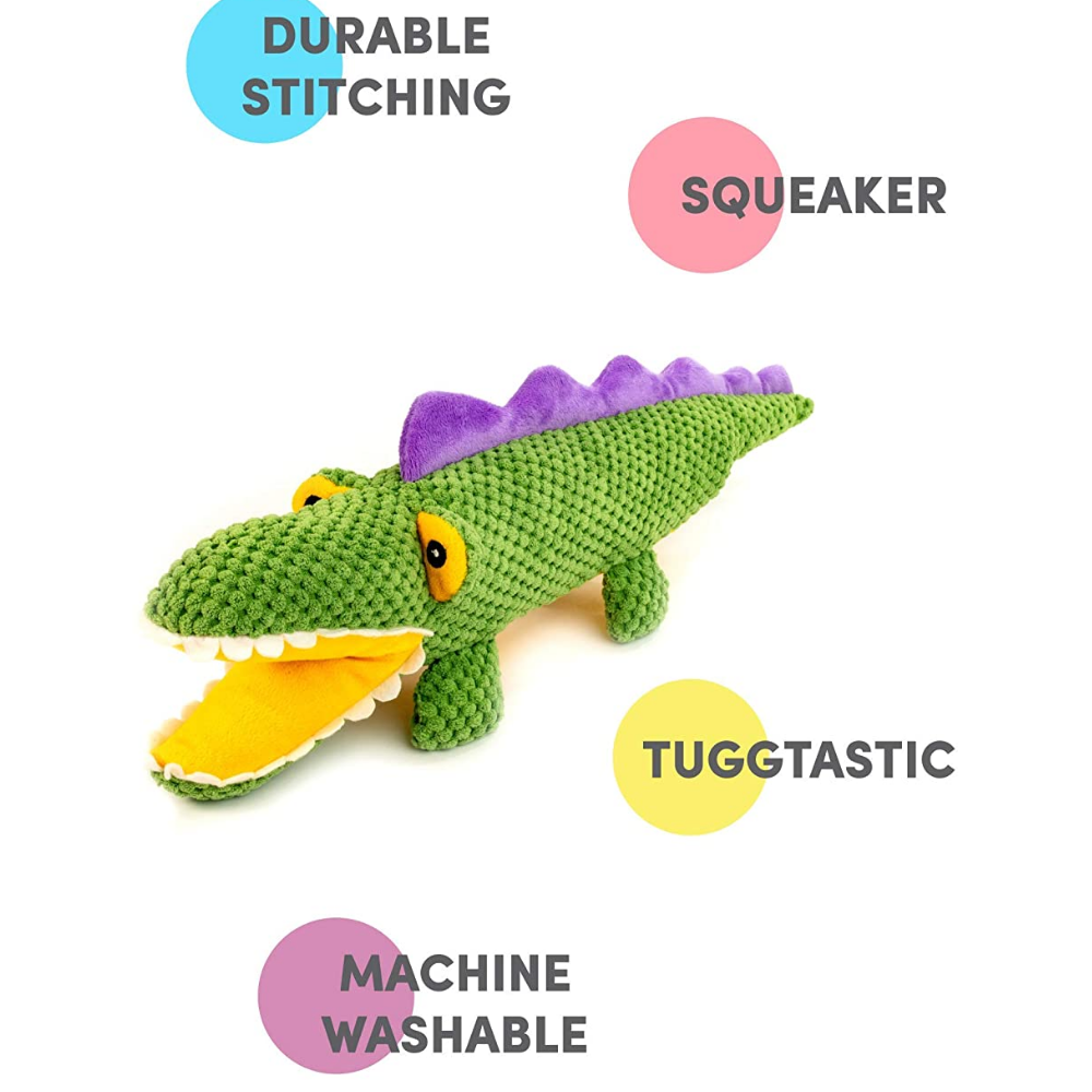 Bark Butler Dog Plush Toy Aly The Gator - Poochles