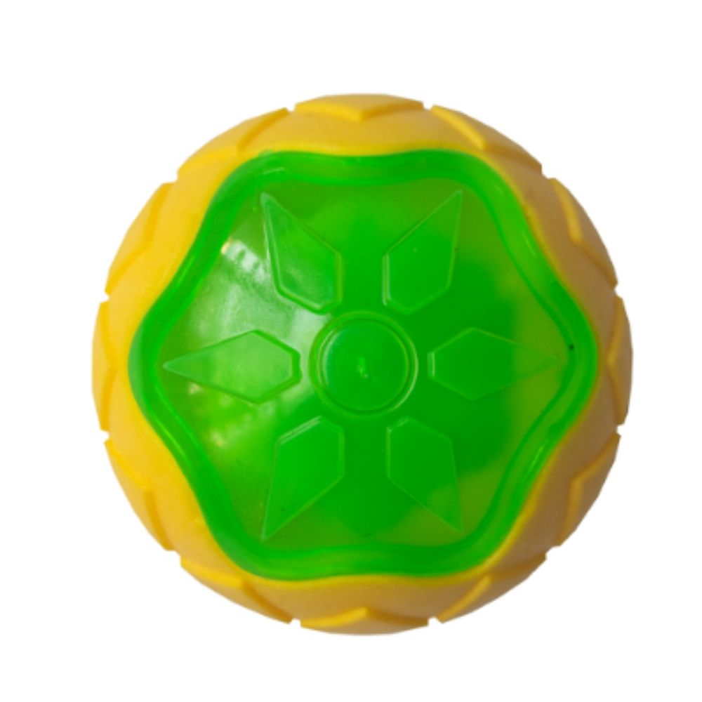 Glow-On Rubber Ball Dog Toy - Poochles