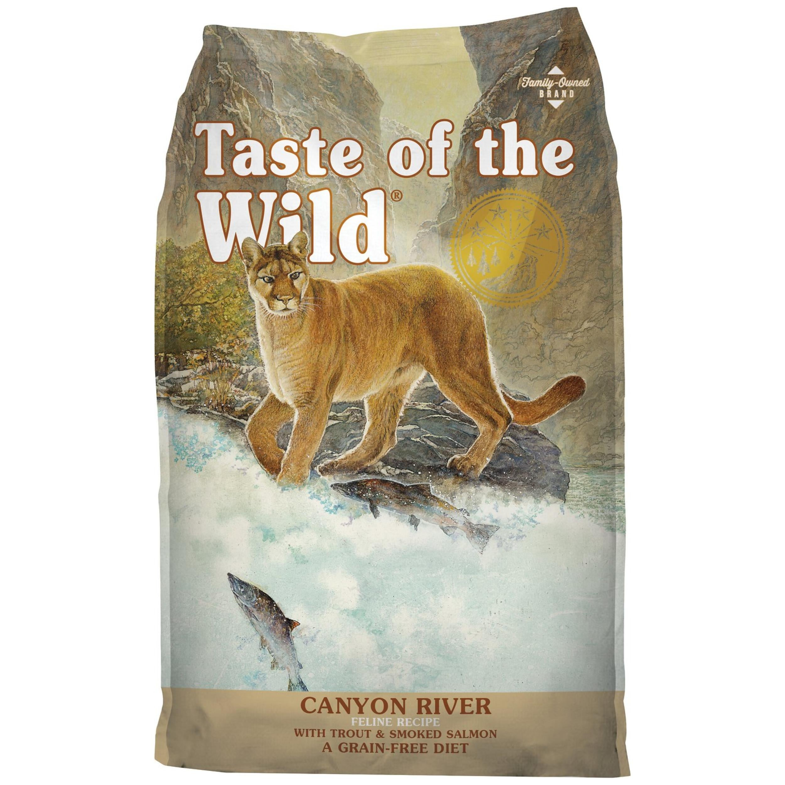 Taste Of The Wild Canyon River Feline Cat Dry Food (Trout and Smoked Salmon)- 2Kgs - Poochles