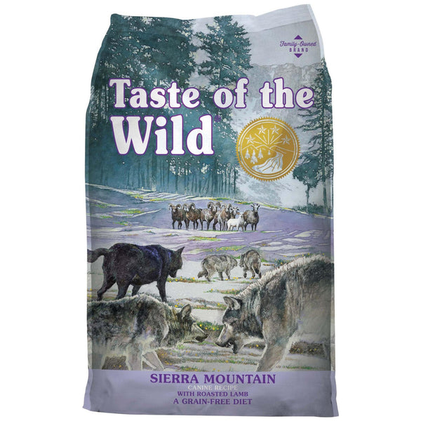 Taste of the Wild Sierra Mountain Canine Dry Dog Food (Roasted Lamb) - Poochles
