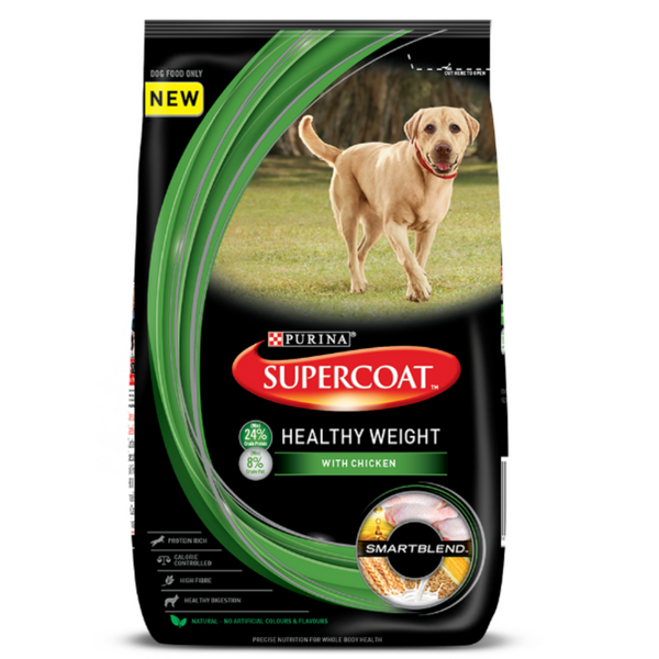Purina Supercoat Healthy Weight Adult Dry Dog Food 3 Kgs - Poochles