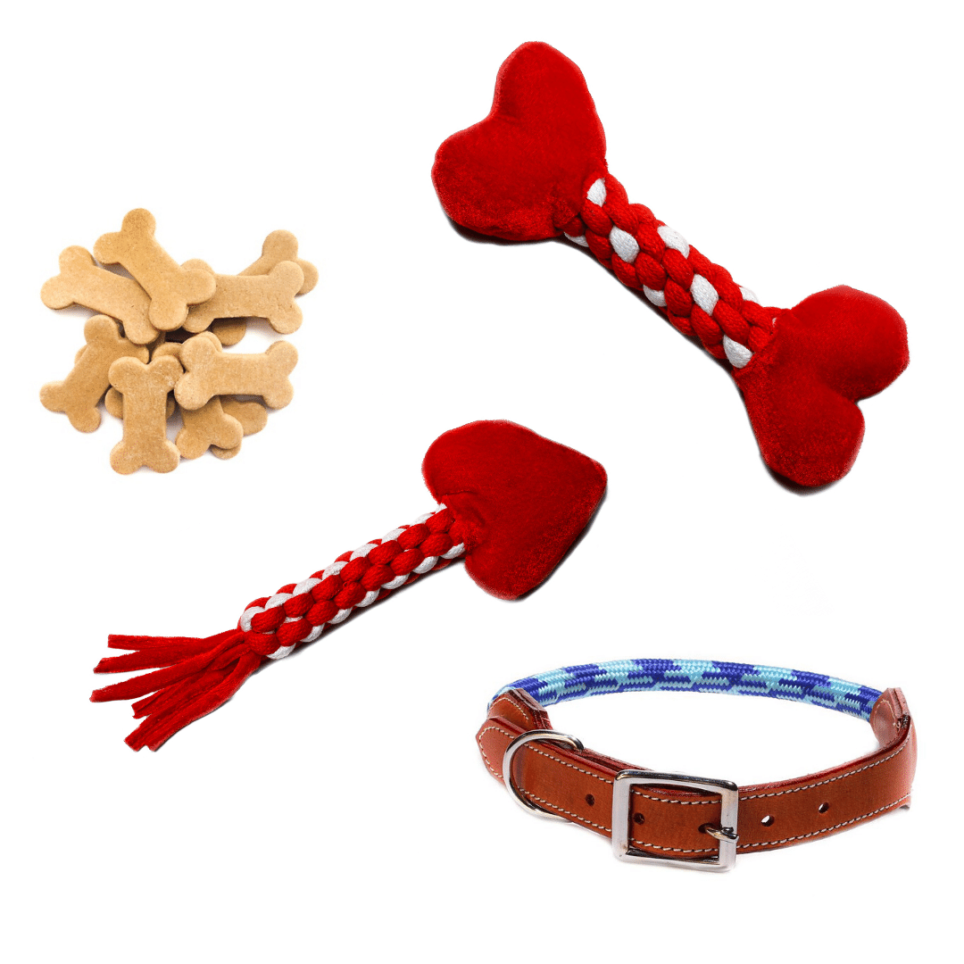 I Luv U Dog Toy Hamper - Poochles