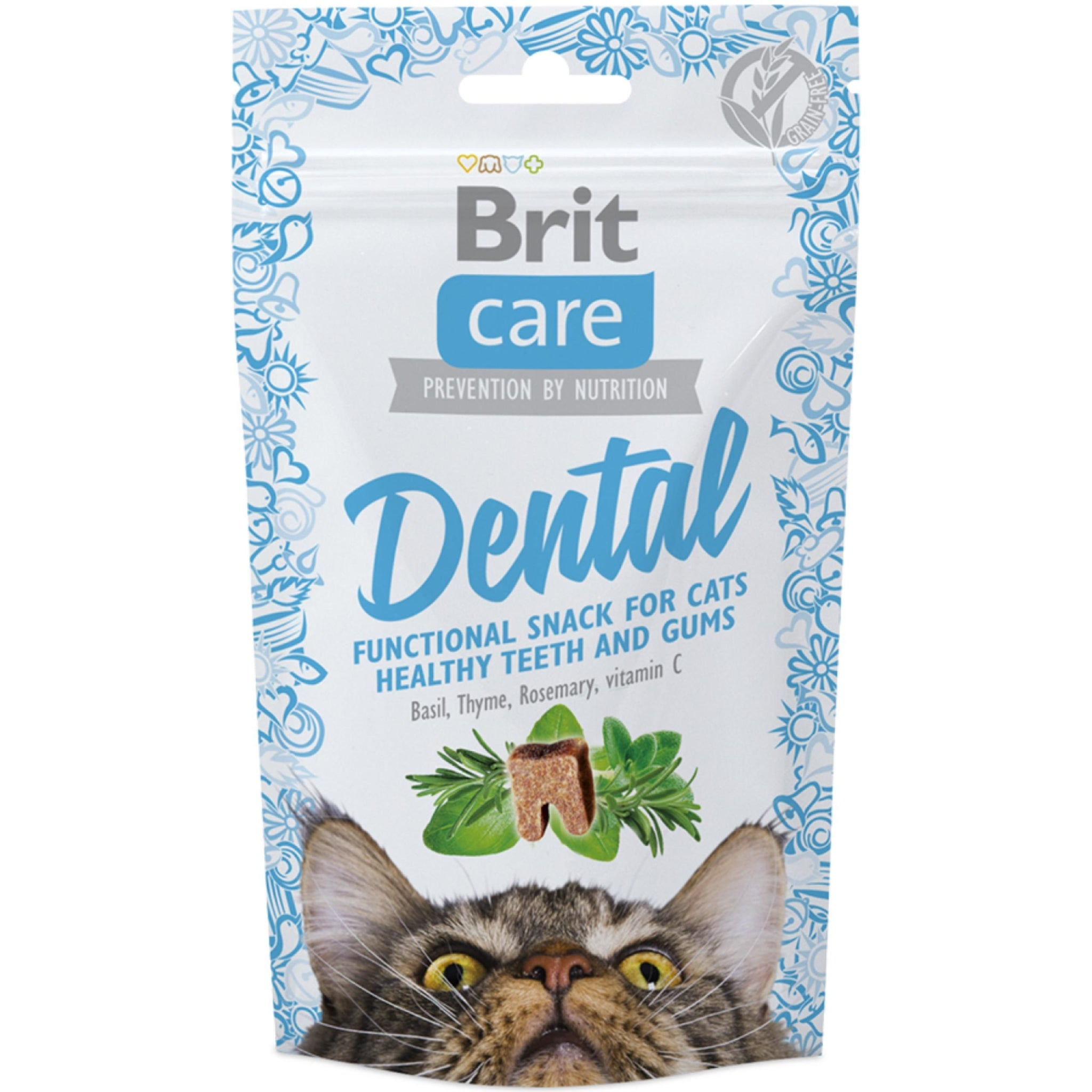 Brit Care Dental Functional Snacks for Cats- 50 g pack of 3 - Poochles
