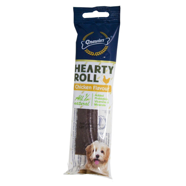 Gnawlers Hearty Roll Chicken Puppy And Dog Chew Treat x 3 nos - Poochles