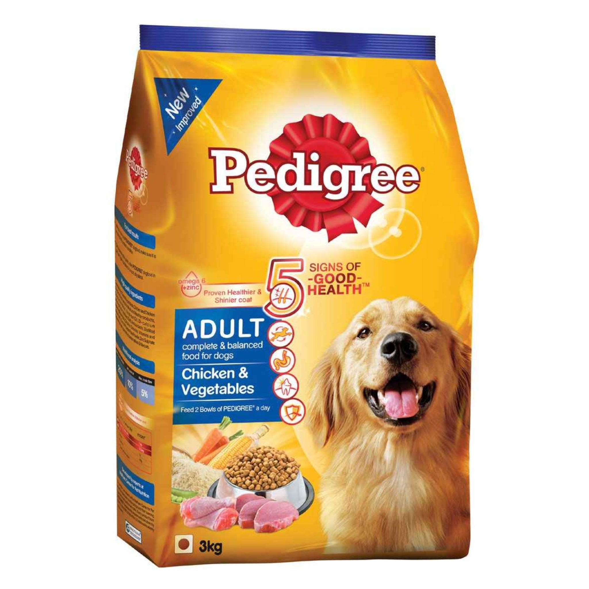 Pedigree Chicken And Vegetable Adult Dog Food - Poochles