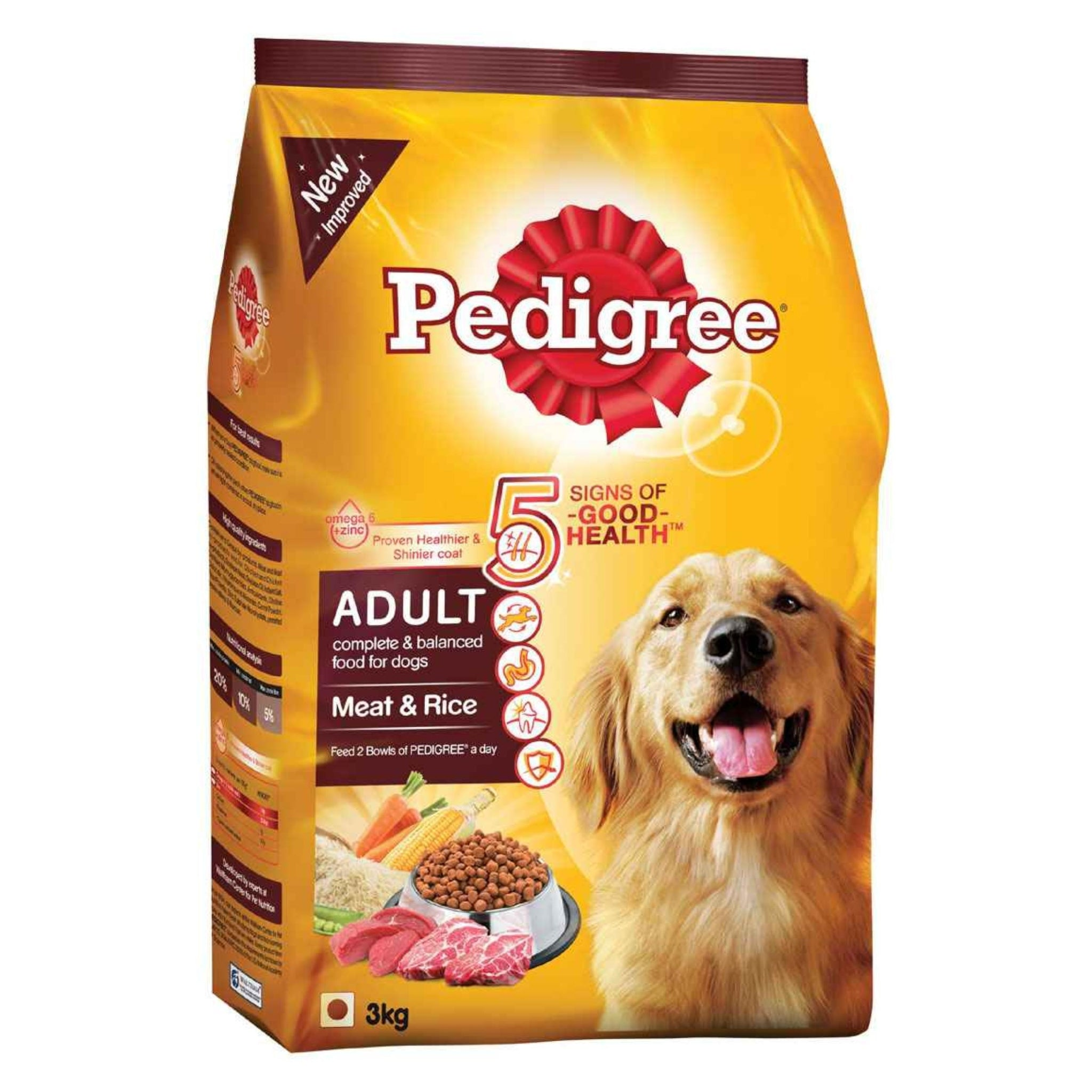 Pedigree Meat And Rice Adult Dog Food - Poochles
