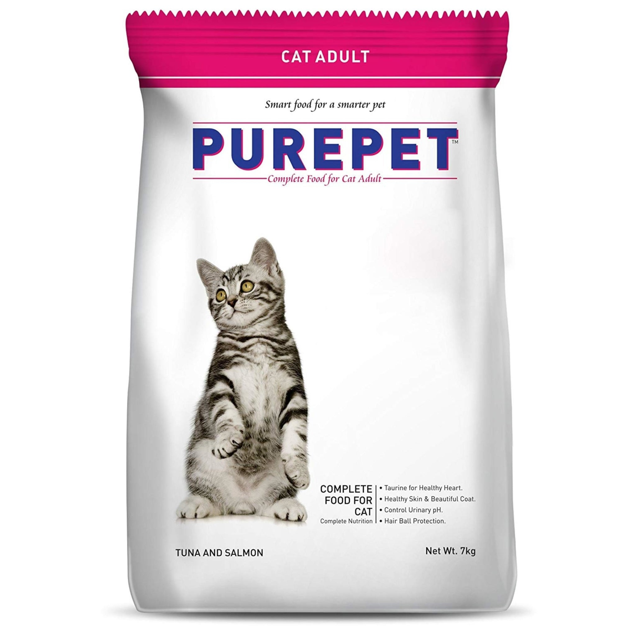 Purepet Cat Food Tuna and Salmon Cat Food 7Kg - Poochles