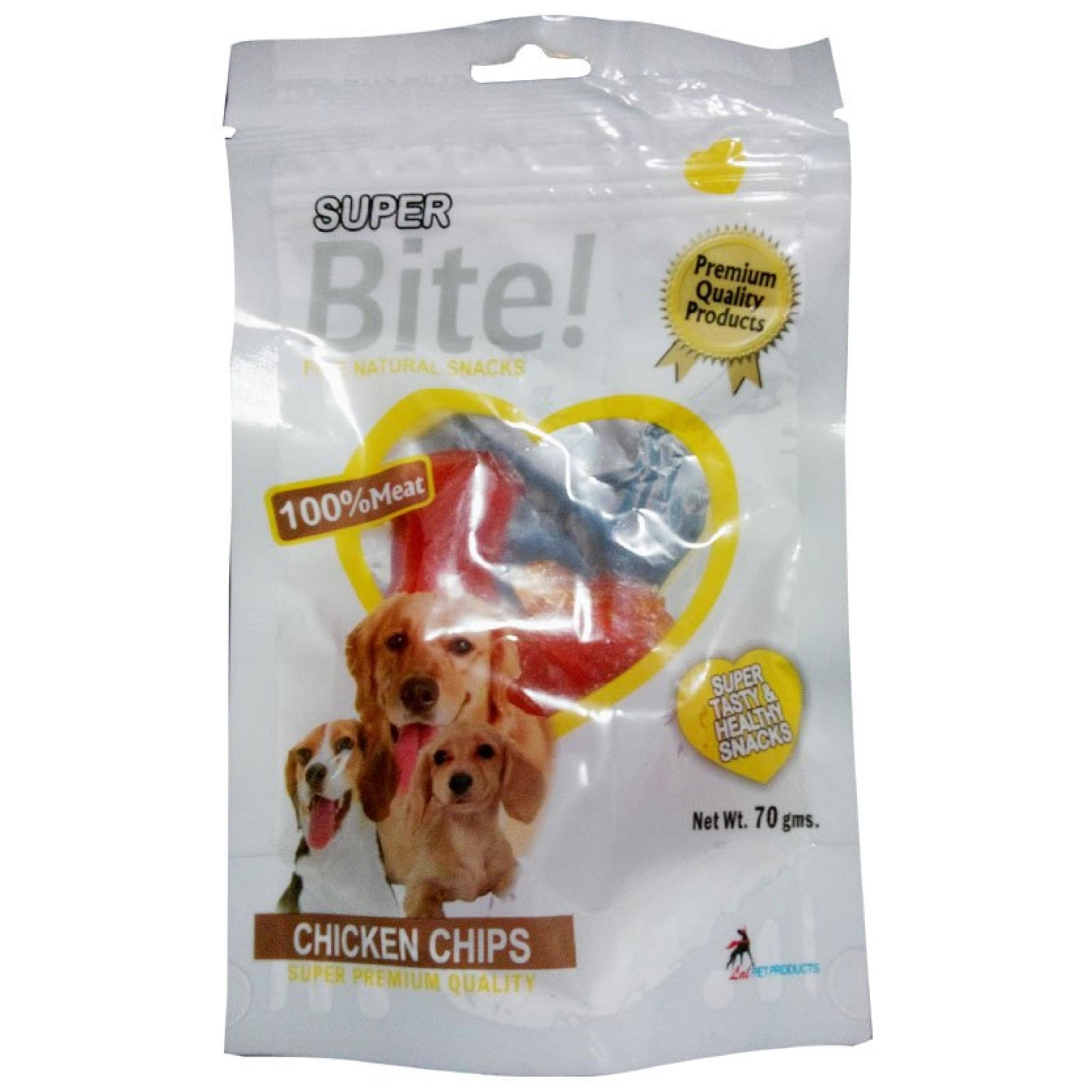 Superbite Dog Chicken Chips Chew Treats 70gms - Poochles