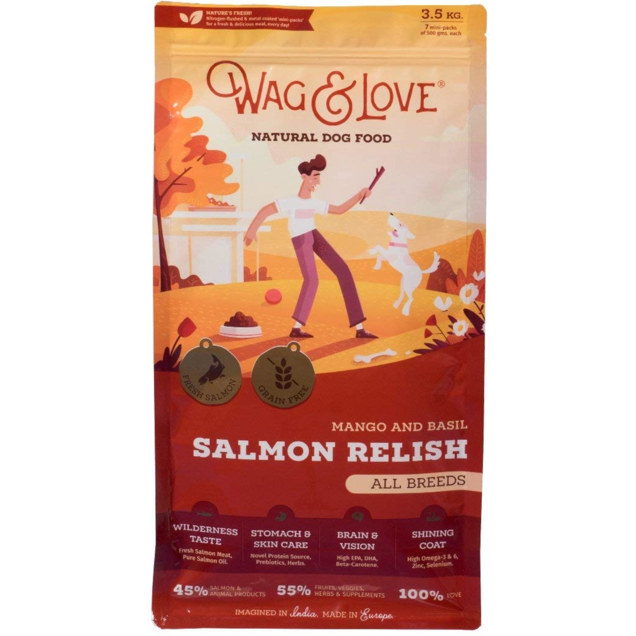 Wag & Love Salmon Relish Dog Dry Food - Poochles