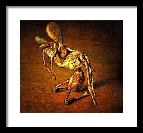 A Parent In Grief - Framed Print