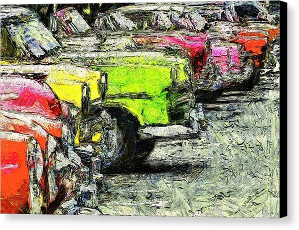 Cars Of Cuba - Canvas Print