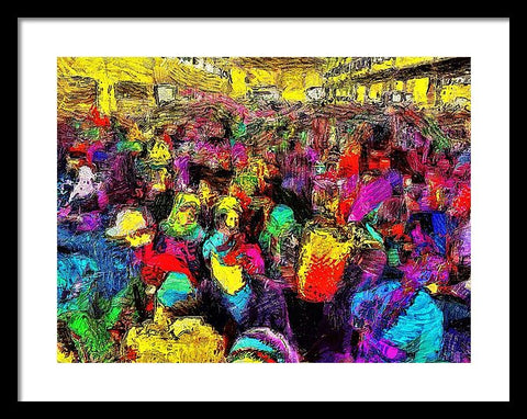 Early Morning At The Market  - Framed Print