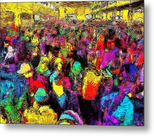 Early Morning At The Market  - Metal Print