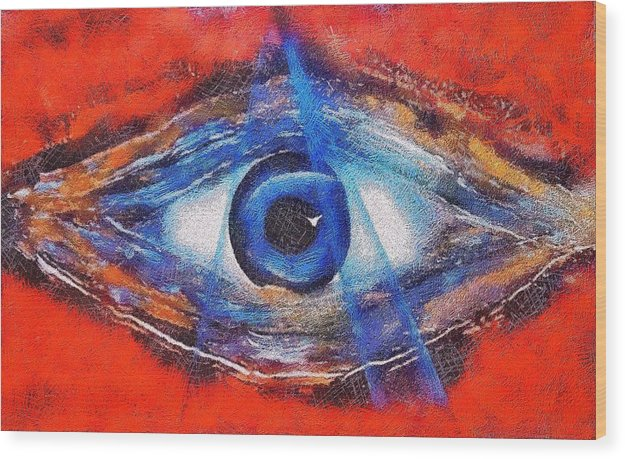 Eye Of The Universe - Wood Print