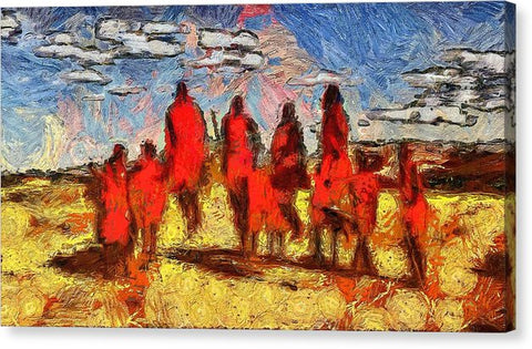 Impressions Of The Maasai - Canvas Print