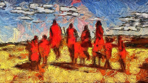 Impressions Of The Maasai - Art Print