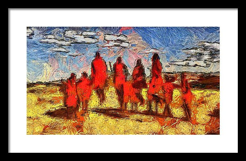 Impressions Of The Maasai - Framed Print