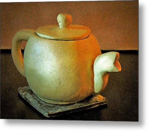 Japanese Tea Pot - Metal Print