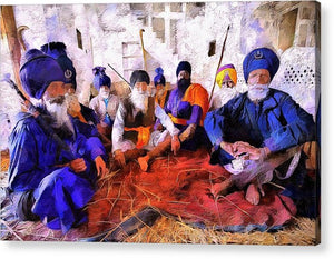 Sikh Men In Anandpur - Acrylic Print