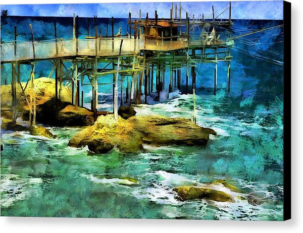 The Fishing Pier - Canvas Print