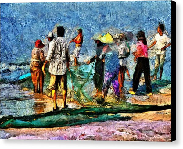 The Fishing Village - Canvas Print