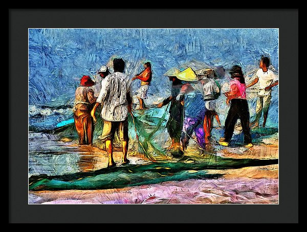 The Fishing Village - Framed Print