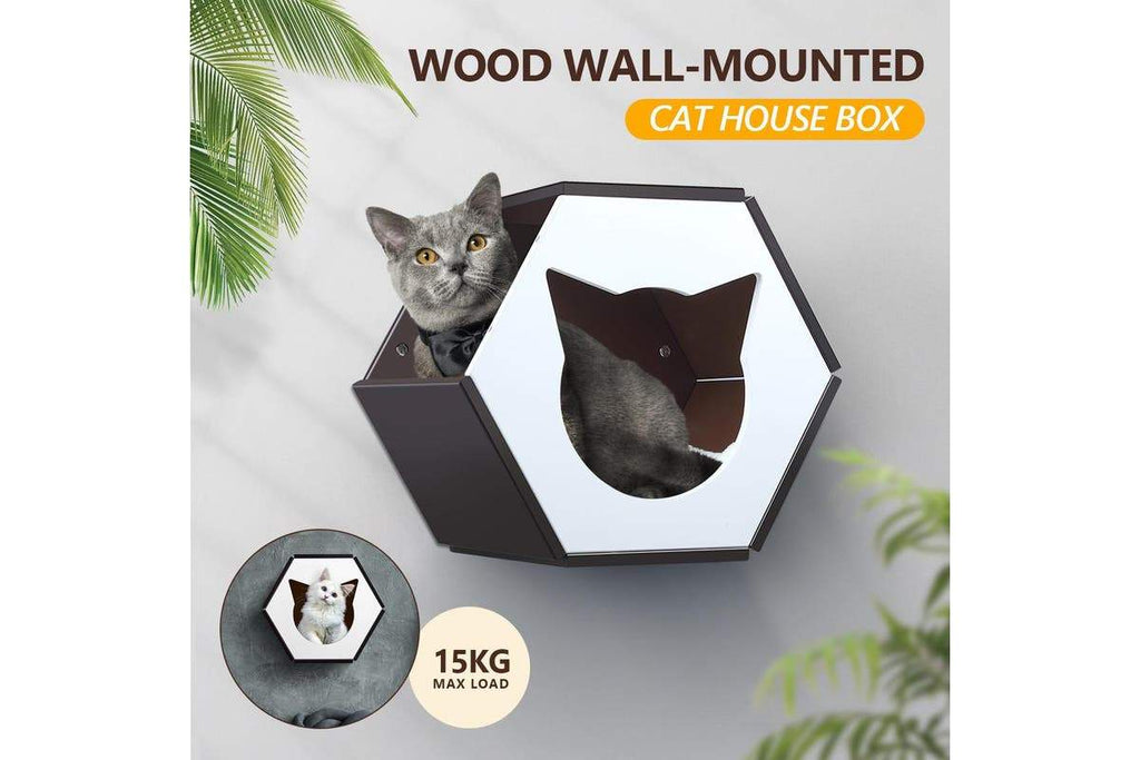 Wall Mounted Cat House Perch Shelves Cat Furniture - JUST Hammocks