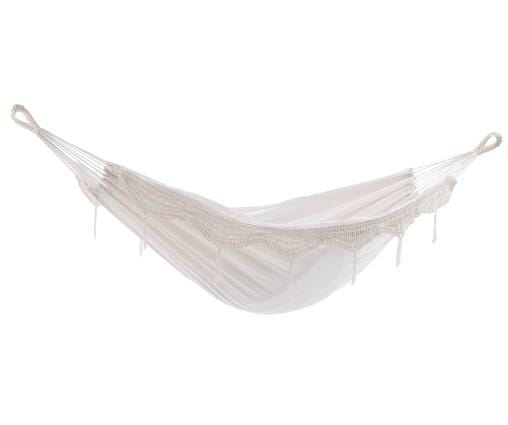 Brazilian Style Hammock - Double (Natural with Fringe) - JUST Hammocks