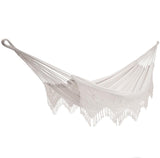 Brazilian Style Double Deluxe Hammock (Natural) - JUST Hammocks