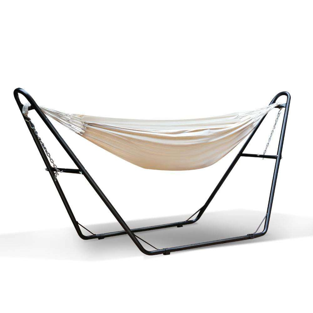 Cream Cotton Hammock Bed with Stand - JUST Hammocks