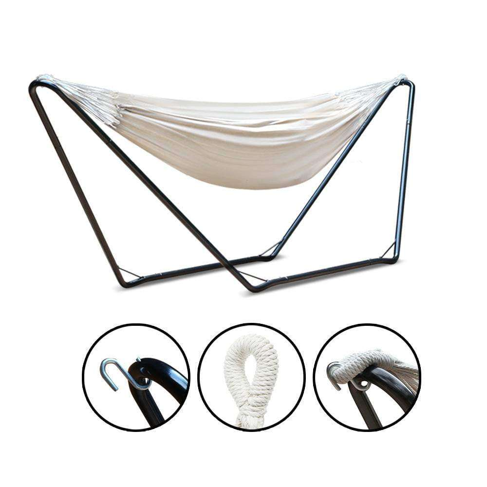 Cream Bella Cotton Hammock Bed with Stand - JUST Hammocks