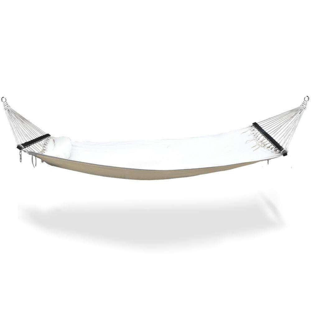 Cream Gideon Double Hammock Swing Bed - JUST Hammocks