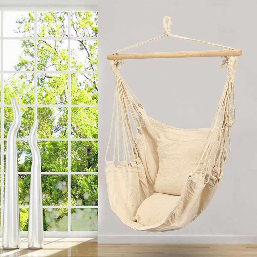 Deluxe Hanging Hammock Chair With Cushions - JUST Hammocks