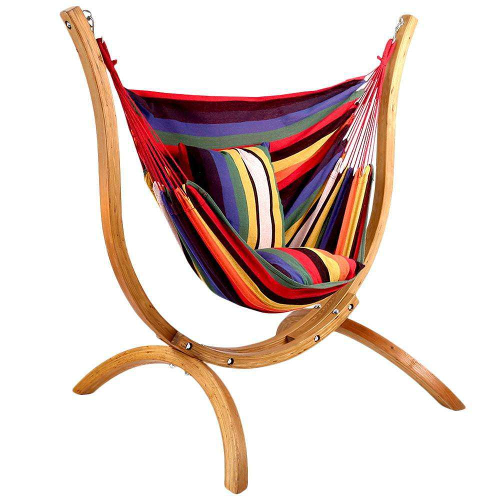 Free Standing Chair Hammock with Wooden Stand - JUST Hammocks
