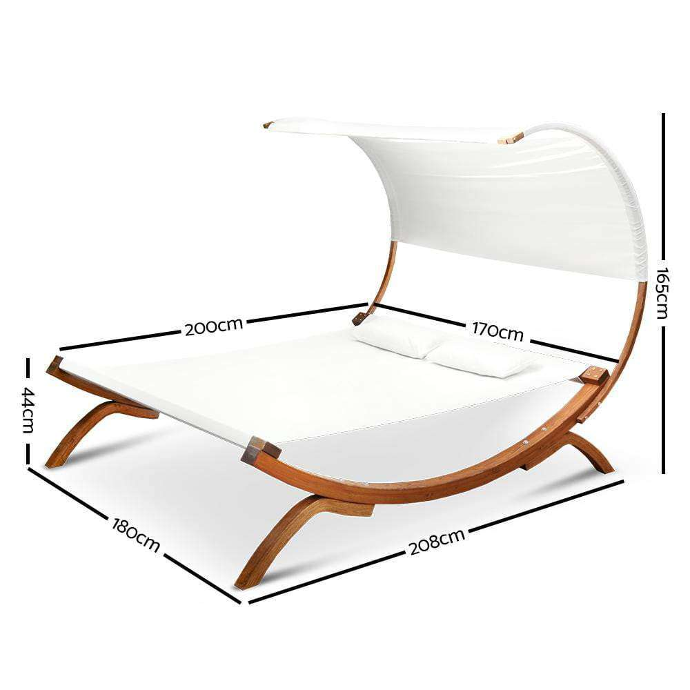 Double Free Standing Hammock Bed with Wooden Stand - JUST Hammocks