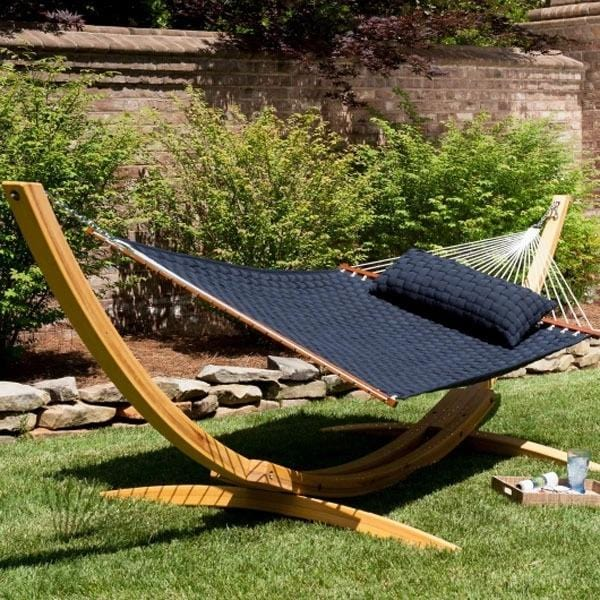 New Style - Deluxe Wooden Hammock With Stand - JUST Hammocks