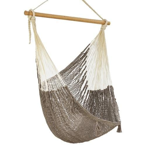 Extra Large Mexican Hammock Chair in Outdoor Cotton Colour Dream Sands - JUST Hammocks