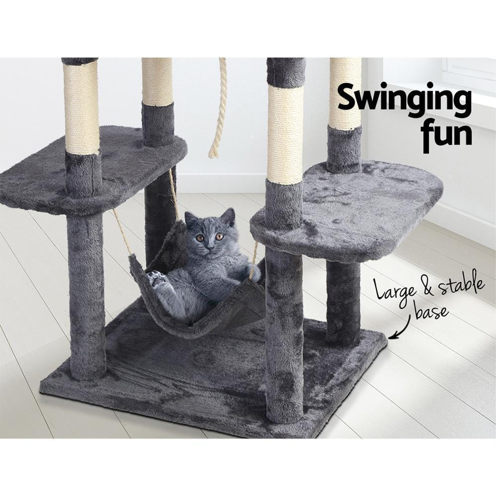i.Pet Cat Tree Trees Scratching Post Scratcher Toys Condo House Furniture Wood - JUST Hammocks