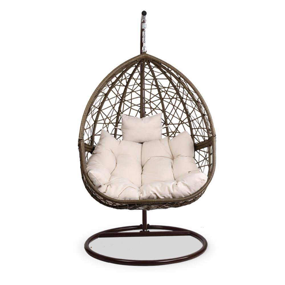 Gardeon Outdoor Hanging Swing Chair - Brown - JUST Hammocks