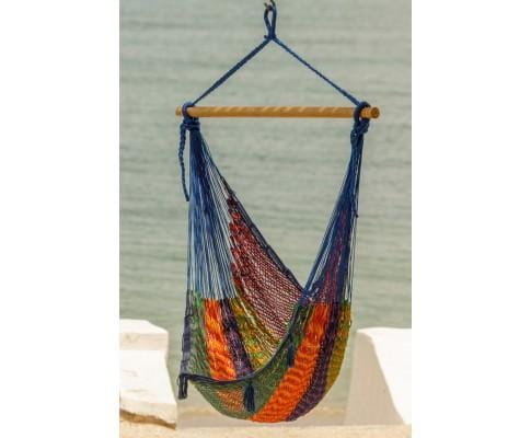 Extra Large Mexican Hammock Chair in Outdoor Cotton Colour Mexicana - JUST Hammocks