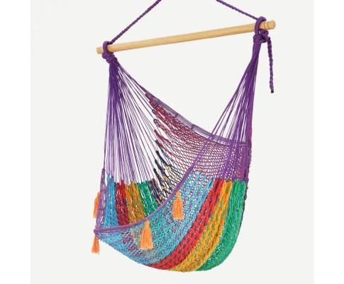 Extra Large Mexican Hammock Chair in Outdoor Cotton Colour Colorina - JUST Hammocks