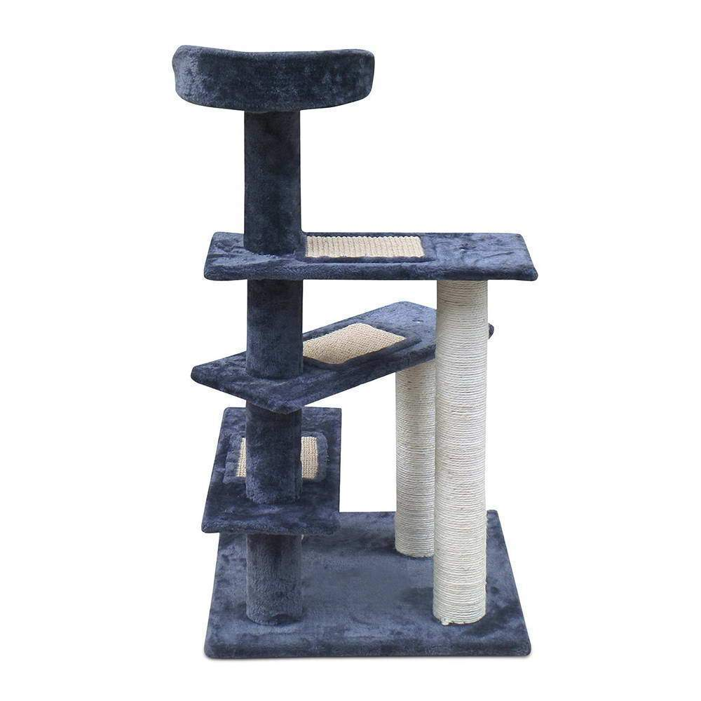 i.Pet 100cm Multi Level Cat Scratching Tree - Grey - JUST Hammocks
